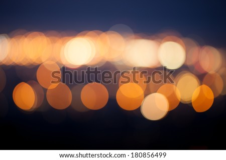 blurred city lights   - stock photo