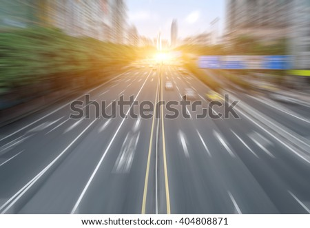 blurred city road background