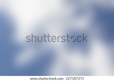 Blurred clouds - stock photo