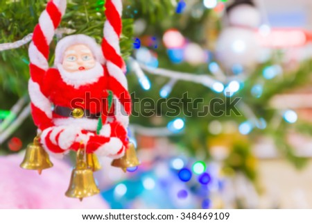 Blurred colorfull christmas for background.