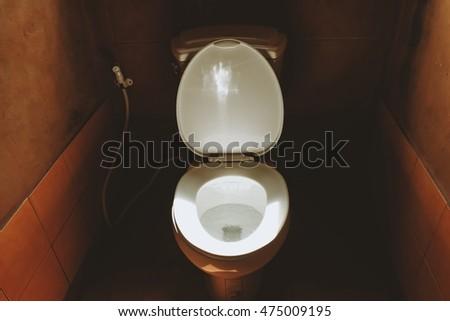 Dark Brown Toilet Seat. blurred dark toilet room and water closet Toilet Seat Stock Images  Royalty Free Vectors Shutterstock