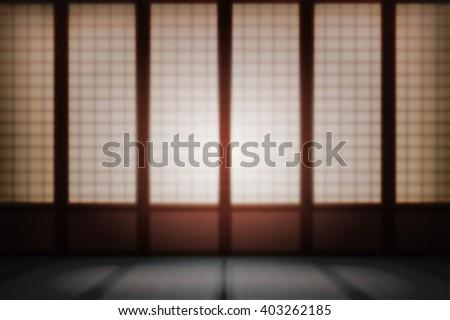 Blurred Dojo Asia - stock photo