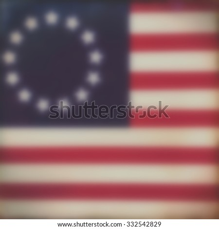 Blurred flag background - America - Revolutionary War - 4th July Independance Day  - stock photo