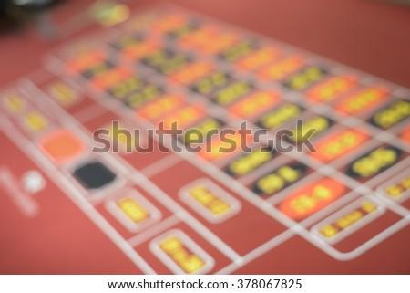 Blurred focus in casino - stock photo