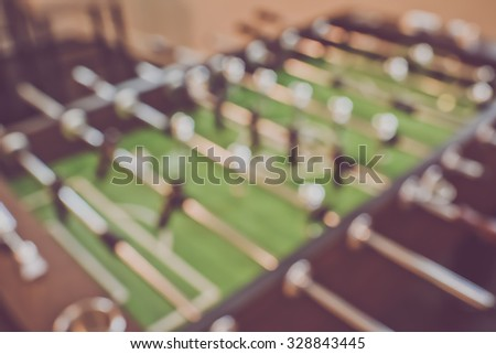 Blurred Foosball Table - stock photo