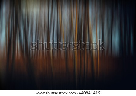 Blurred forest. Landscape - stock photo