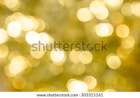 blurred gold bokeh abstract lights background - stock photo