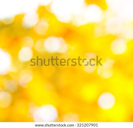 blurred golden background, natural background of autumn leaves, abstract natural background - stock photo