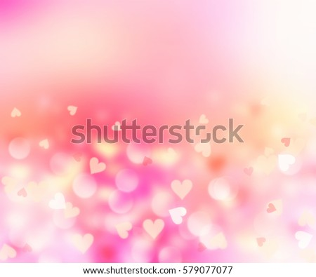 Blurred Hearts Valentine Backgroundpink Romantic Wedding Stock ...