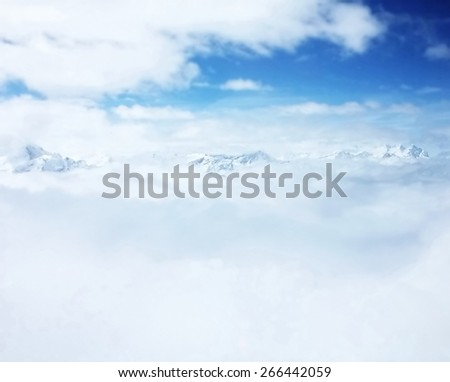blurred iceberg, Switzerland - stock photo