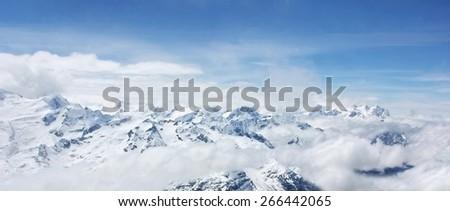 blurred iceberg, Switzerland - stock photo