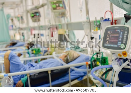 blurred icu room hospital medical equipments stock photo 342951869