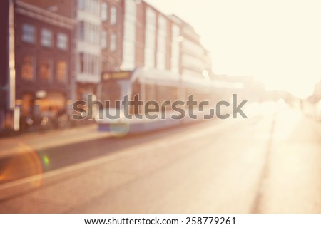 Blurred image a street.  - stock photo