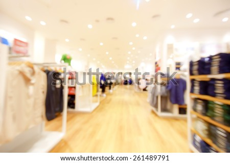 blurred image background with clothing store