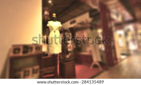 blurred image background with clothing store 16:9 Ratio - stock photo