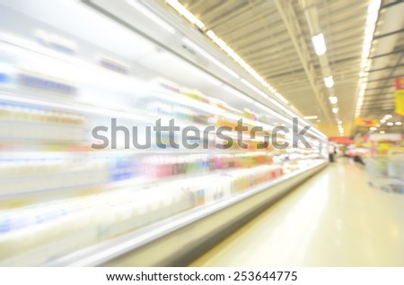 blurred image background with food and drinks In the mall - stock photo