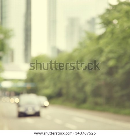 Blurred image of abstract urban scene. - stock photo
