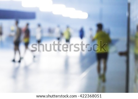Blurred image of Badminton Court