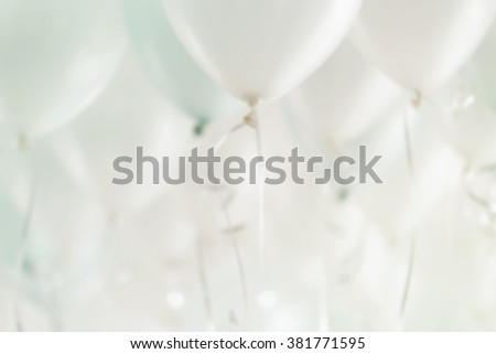 blurred image of  balloons in the party - stock photo