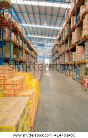 Blurred image of big retail store for background, backdrop uses Abstract background - shallow depth of focus.
