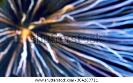 blurred image of Blurred lights,Big bright round defocused colored lights on black background - stock photo