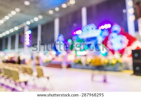 blurred image of concert hall for background usage . - stock photo