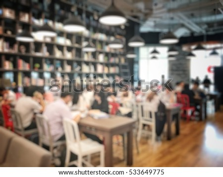 Blurred image of group business is talking and planning the project in meeting room at the office.
