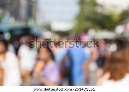 blurred image of market and people - stock photo