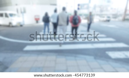 Blurred image of people traveling. abstract business people background concept