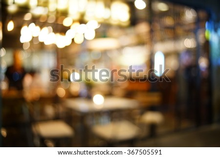 Blurred image of restaurant / coffee shop for backgrounds uses.