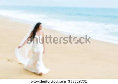 blurred image : People in wedding ceremony