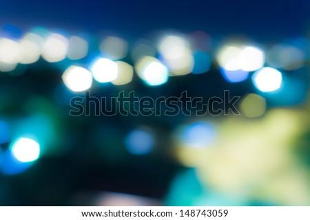 blurred light - stock photo