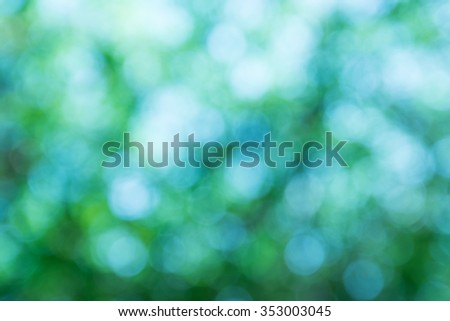 Blurred lights circular bokeh abstract green background,For Christmas background - stock photo