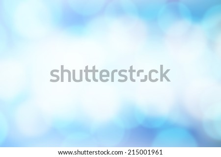 Blurred Lights on blue background or Lights on blue background. - stock photo