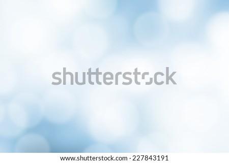 Blurred Lights on blue background or Lights on blue background. - stock photo