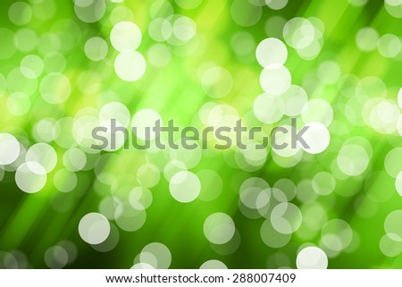 Blurred Lights on green background or Lights on green background. - stock photo
