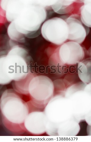 Blurred lights red bokeh abstract light background - stock photo