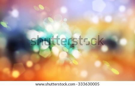 Blurred lights splash background. Defocused celebration wallpaper. - stock photo
