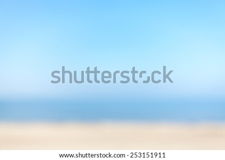 Blurred natural beach background, space for text. - stock photo