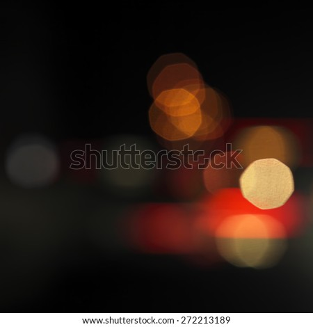Blurred night lights background - stock photo