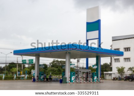 Blurred Of Gas Station.