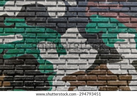 Blurred of old brick wall paint color and triangles color for texture background and black drop. - stock photo