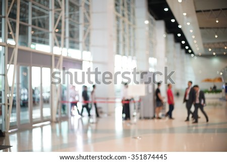 Blurred of Security Checkpoint - Body and Luggage Scan Machine, Security body scan- Airport Check In, background uses - stock photo