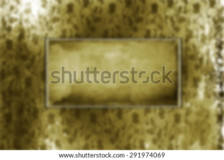 blurred Old frame on the wall. Vintage background  - stock photo