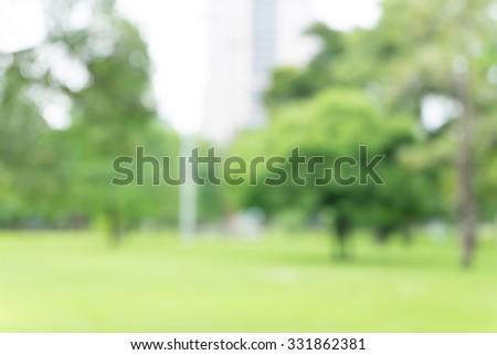 Blurred park  - stock photo