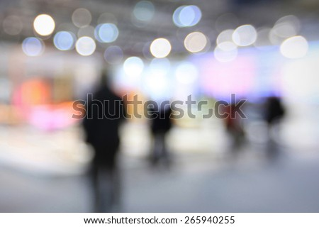 Blurred people background. Intentionally blurred editing post production. - stock photo