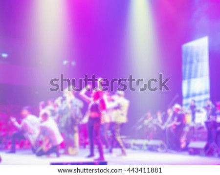 Blurred photo of concert event