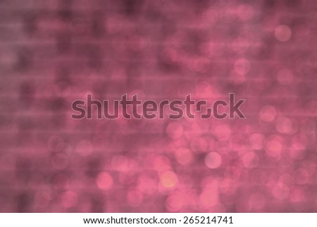 blurred pink brick wall texture background - stock photo
