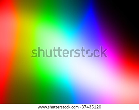 blurred rainbow colors on a dark background