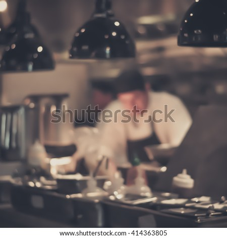 Restaurant Kitchen Photography blurred restaurant chef chef cooking open stock photo 377694613